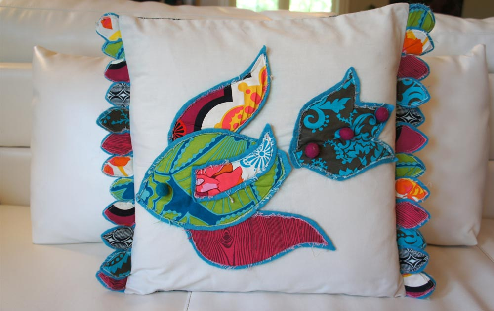 Pesce, Italia Pillow Series, by Heidi Damata