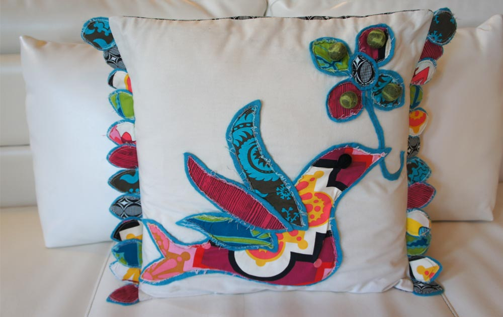 Uccello, Italia Pillow Series, by Heidi Damata