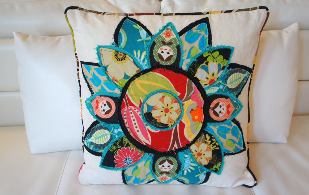 Flor, Mexico Pillow Series, by Heidi Damata